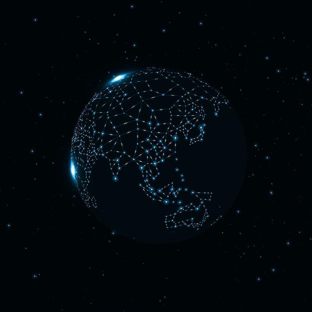 Globe de la technologie Vecteur Premium