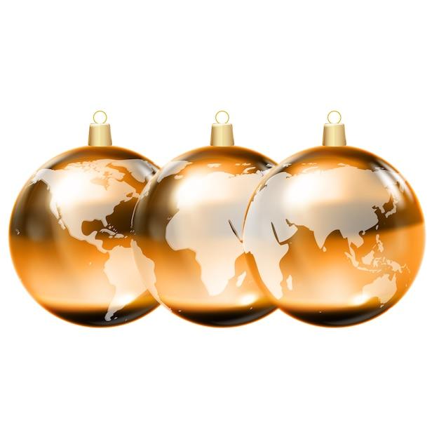 Globe Terrestre 3d Planete Brillante Vecteur Vecteur Premium
