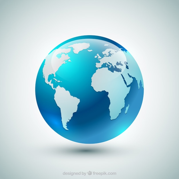 Globe terrestre bleu Vecteur gratuit