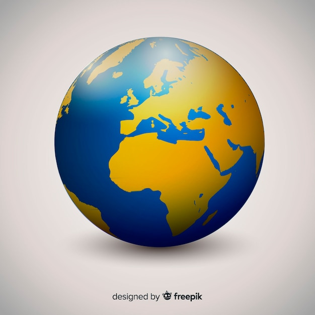 Globe terrestre élégant avec style dégradé Vecteur gratuit