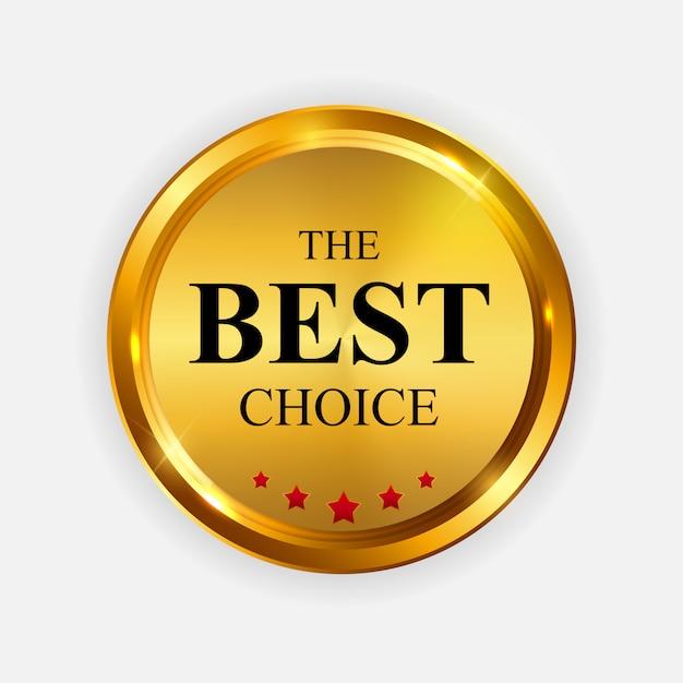 Gold label le meilleur modèle de choix. Vecteur Premium