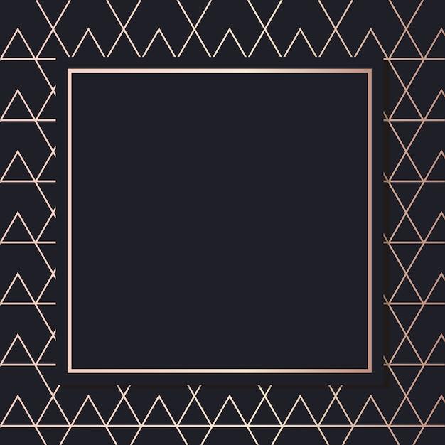 Golden frame pattern art vector carte de couverture de fond élégant géométrique Vecteur Premium