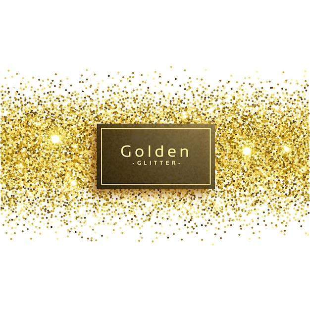 Golden glitter sur fond blanc Vecteur gratuit