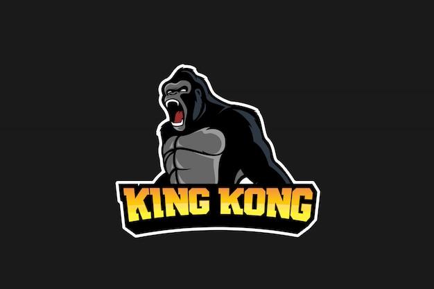 Gorilla esport logo Vecteur Premium