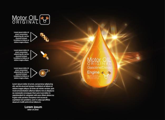 Goutte D'huile Liquide Jaune. Illustration. Vecteur Premium