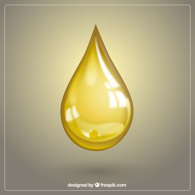 Goutte d'huile d'olive Vecteur gratuit