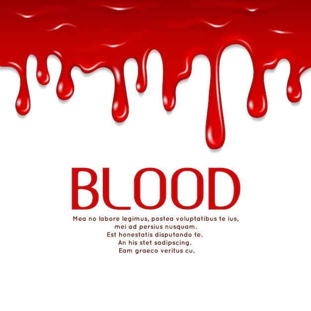 Goutte de sang Vecteur Premium