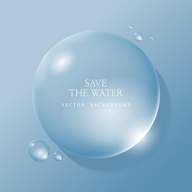 Gouttelettes D'eau Transparentes, Water Drop Vecteur Premium