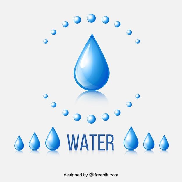 Gouttes d'eau Vecteur gratuit