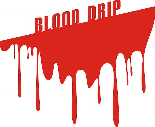 Gouttes de sang isolé sur blanc Vecteur Premium
