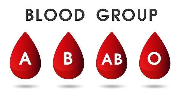 Gouttes de sang rouge et dons de sang par le sang. Vecteur Premium