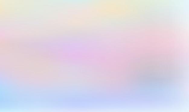 Gradient de couleurs pastel holographique abstraite, fond abstrait de couleur ondulée Vecteur Premium