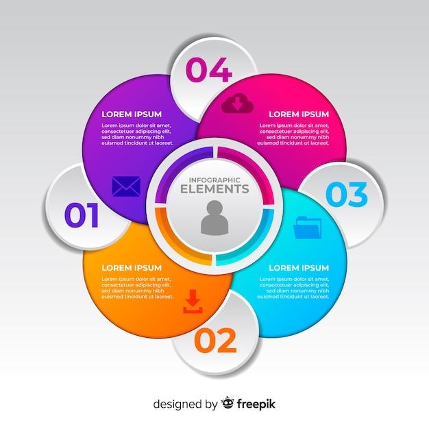 Gradient infographie professionnelle Vecteur gratuit