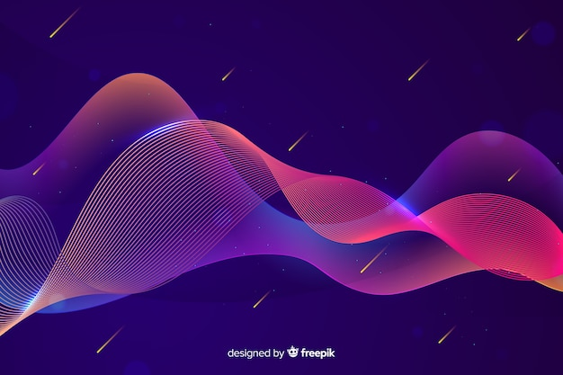 Gradient infographie vagues colorées Vecteur gratuit