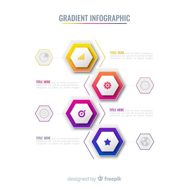Gradient infographique Vecteur gratuit