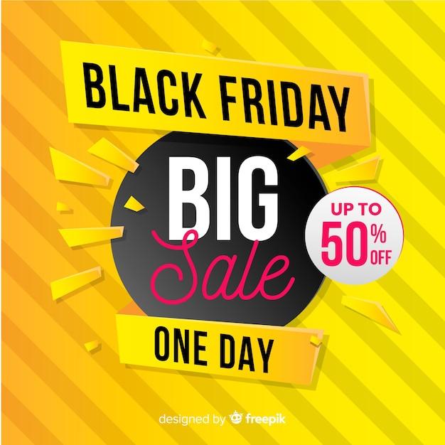 Gradient noir vendredi grande bannière de vente Vecteur gratuit