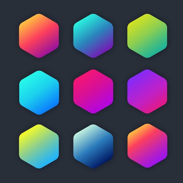 Gradient radiant coloré Vecteur Premium