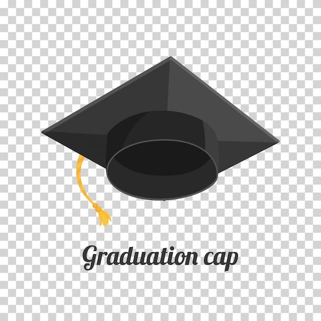 Graduation Cap Ou Un Chapeau Illustration Dans Le Style Plat. Casquette Académique. Vecteur Premium