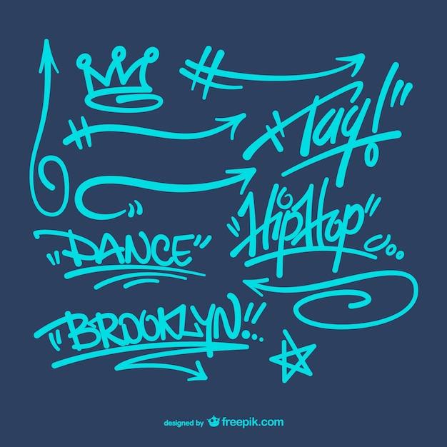 Graffitis Pack Vecteur Vecteur Premium