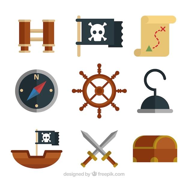 Grand ensemble d 39 objets piraux d coratifs t l charger for Objets decoratifs