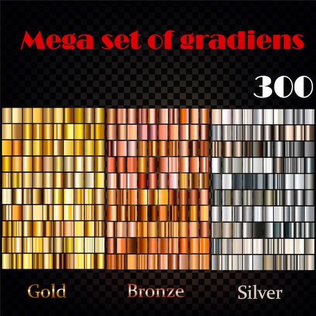 Grand ensemble de gradients Vecteur gratuit