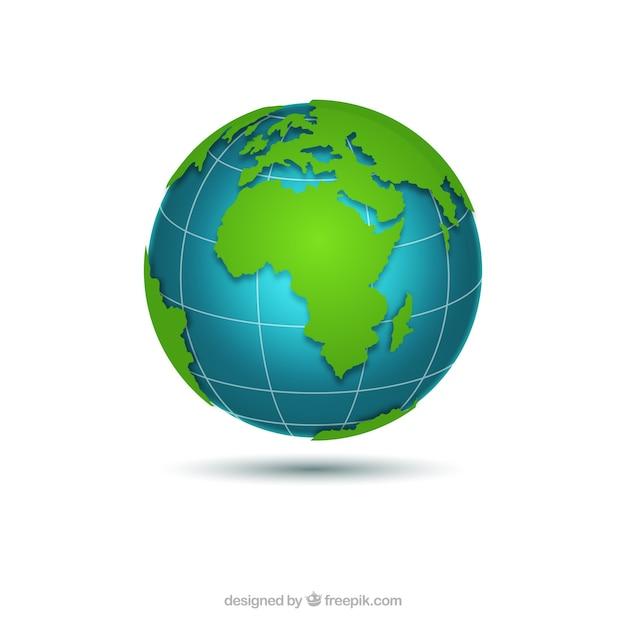 Grand globe terrestre Vecteur gratuit