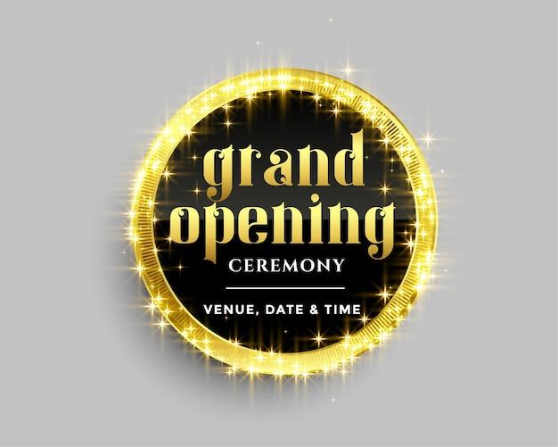 Grand Modèle De Bannière D'ouverture Avec Un Design D'étincelles Dorées Vecteur gratuit