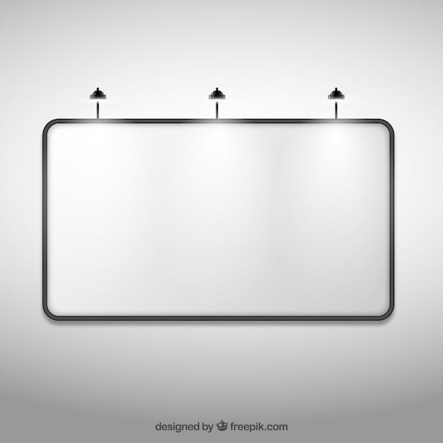 grand panneau d 39 affichage vierge t l charger des vecteurs gratuitement. Black Bedroom Furniture Sets. Home Design Ideas