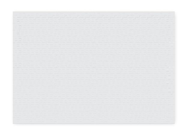 Grand Puzzle Rectangulaire De Pièces De Couleur Blanche Vecteur Premium