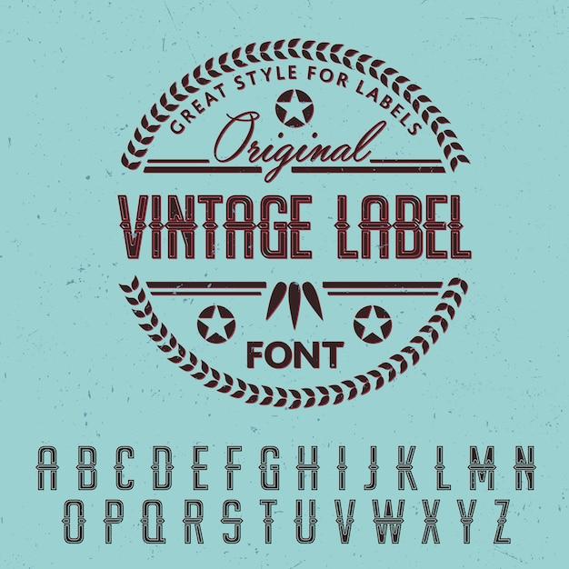Grand Style Pour Les étiquettes Poster Vecteur Premium