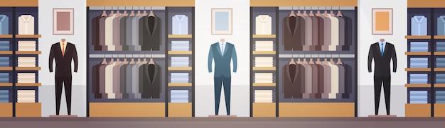 Grande bannière d'intérieur de centre commercial de vêtements de grand marché de magasin de mode de vêtements avec l'espace de copie Vecteur Premium