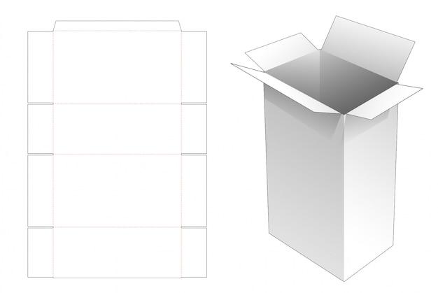 Grande Boîte Aux Lettres De Livraison Avec Poignées Modèle Découpé Vecteur Premium