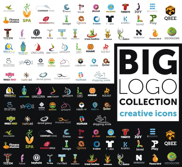 Grande collection de logos Vecteur Premium