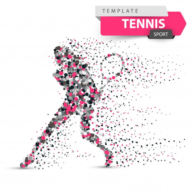Grande illustration de points de tennis Vecteur Premium