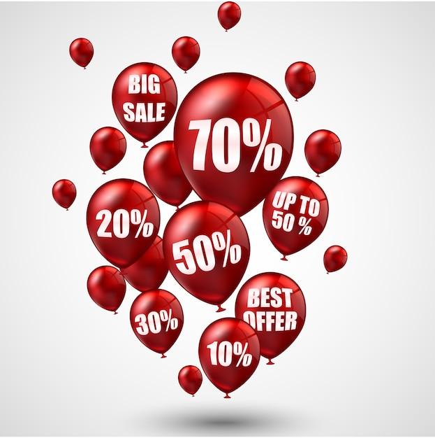Grande vente et meilleure offre de ballons Vecteur Premium