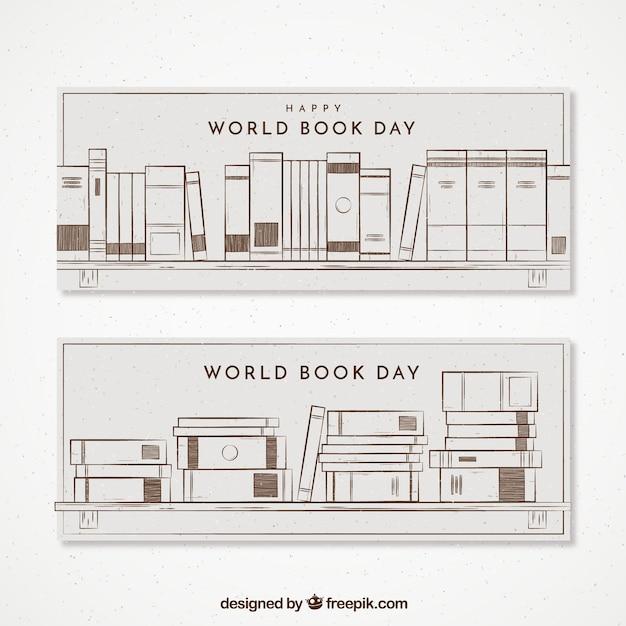 grandes banderoles dans le style r tro pour la journ e mondiale du livre t l charger des. Black Bedroom Furniture Sets. Home Design Ideas