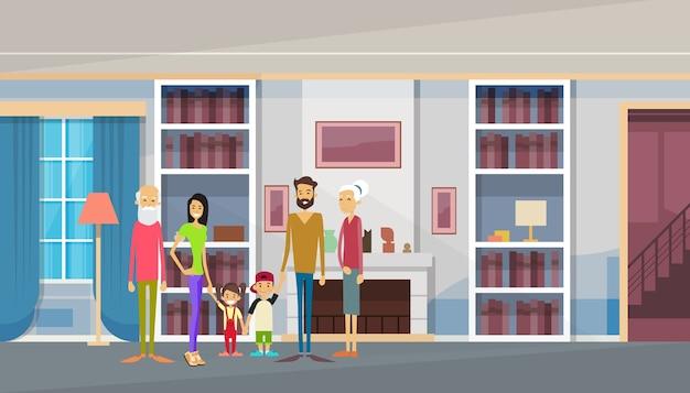 Grands parents Vecteur Premium