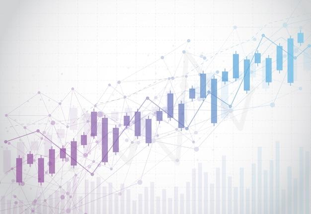Graphique à barres bougie d'affaires du marché boursier Vecteur Premium