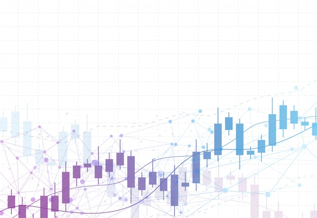 Graphique de bougie bâton graphique des investissements boursiers Vecteur Premium