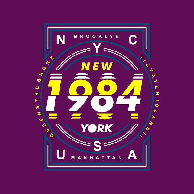Graphique de conception de la ville de new york Vecteur Premium