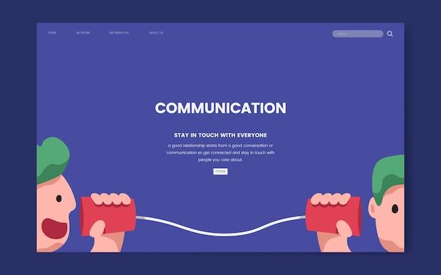 Graphique du site web de communication et d'information Vecteur gratuit