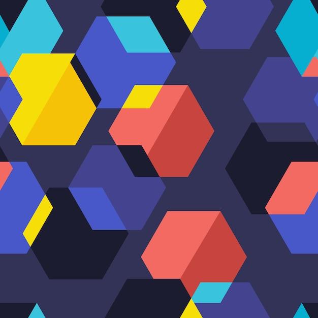 Graphique Géométrique De Motif De Fond Sans Soudure. Illustrer. Vecteur Premium