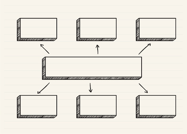 Graphique gribouillé sur un bloc-notes Vecteur gratuit
