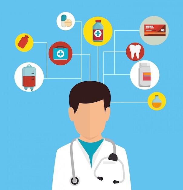 Graphique heatlhcare médical Vecteur Premium
