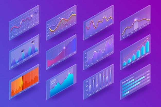 Graphique isométrique 3d et graphiques Vecteur Premium
