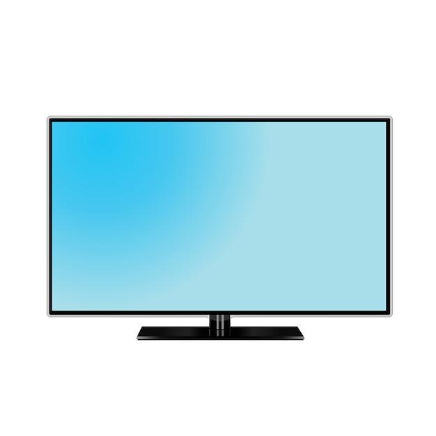Graphique de moniteur de télévision Vecteur Premium