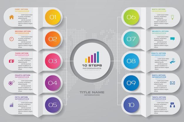 Graphique pour la présentation des données. Vecteur Premium