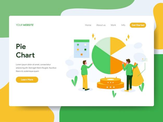Graphique à secteurs pour la page web Vecteur Premium
