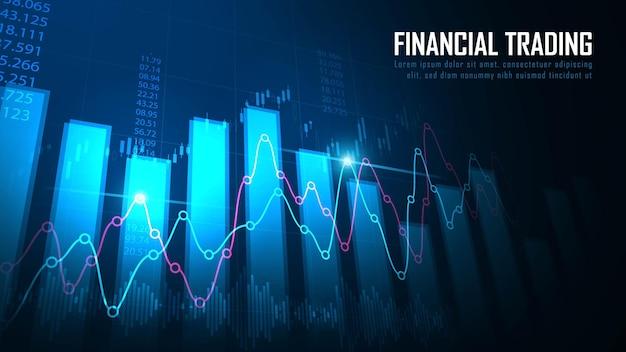 Graphique De Trading Boursier Ou Forex Dans Le Concept Graphique Adapté à L'investissement Financier Ou Aux Tendances économiques Vecteur Premium
