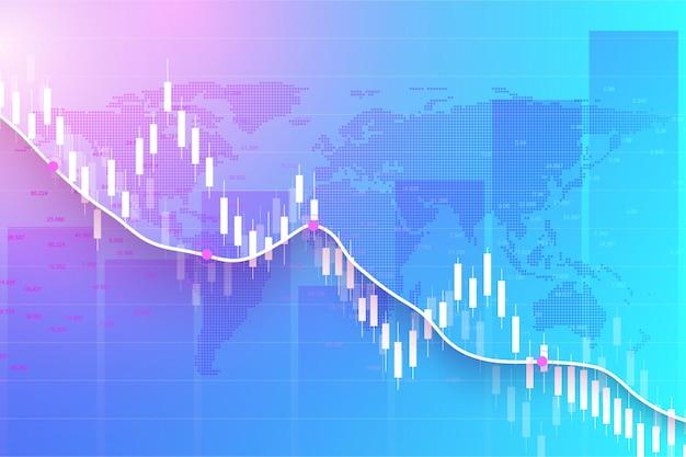 Graphique De Trading Boursier Ou Forex Dans Le Concept Graphique Vecteur Premium